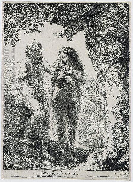 Adam and Eve by Rembrandt - Reproduction Oil Painting
