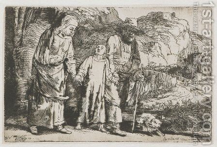 Christ returning from the Temple with his Parents by Rembrandt - Reproduction Oil Painting