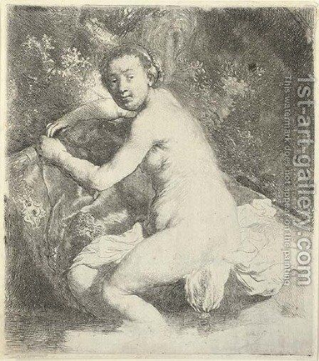 Diana at the Bath by Rembrandt - Reproduction Oil Painting