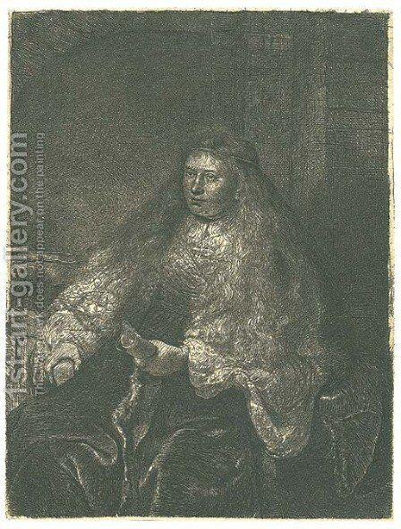 The great Jewish Bride 3 by Rembrandt - Reproduction Oil Painting