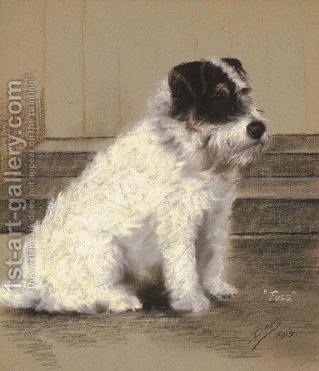 Fuss, a Terrier by Binks, R. Ward - Reproduction Oil Painting