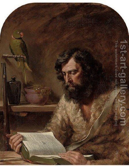 Robinson Crusoe by Charles Robert Leslie - Reproduction Oil Painting