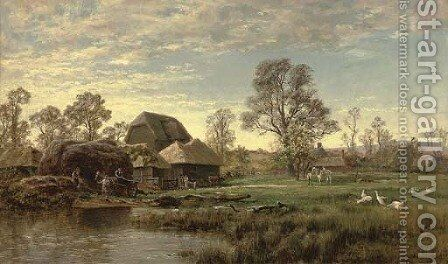 A farmstead by Robert Gallon - Reproduction Oil Painting