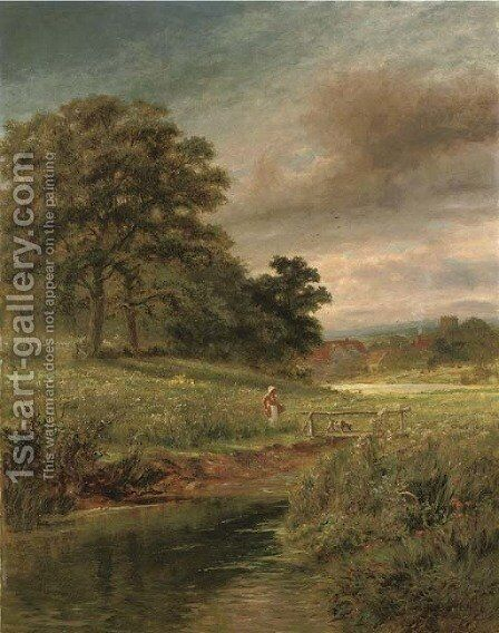 A summer meadow by Robert Gallon - Reproduction Oil Painting