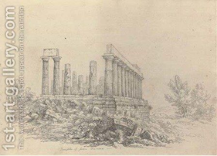 The Temple of Jupiter Olympus by Harriet Cheney - Reproduction Oil Painting