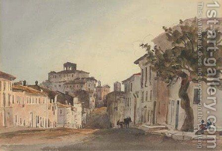 An Italian village bathed in sunlight by Harriet Cheney - Reproduction Oil Painting