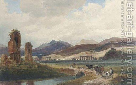 In the Roman Campagna by Harriet Cheney - Reproduction Oil Painting