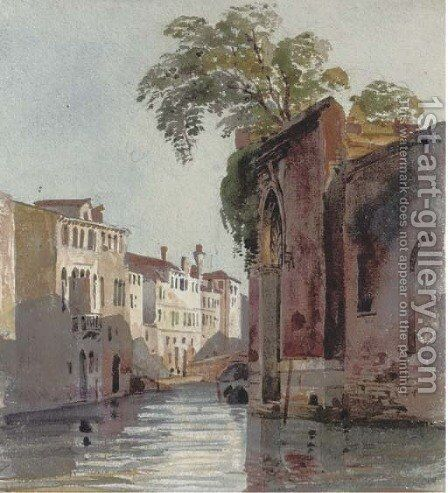 Near Campo dei Mori, Venice by Harriet Cheney - Reproduction Oil Painting