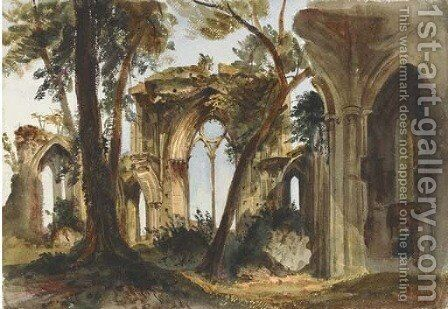 Netley Abbey, Hampshire by Harriet Cheney - Reproduction Oil Painting