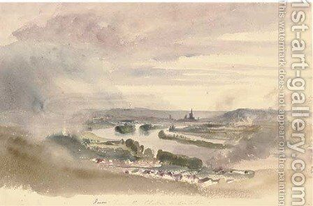 Rouen from the Chateau de Cantelieu by Harriet Cheney - Reproduction Oil Painting