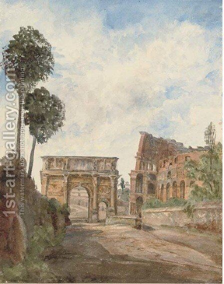 The Arch of Constantine, Rome by Harriet Cheney - Reproduction Oil Painting