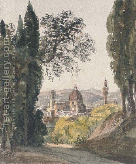 The Boboli Gardens, Florence by Harriet Cheney - Reproduction Oil Painting