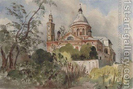 The Chiesa di S. Maria Carignano, Genoa by Harriet Cheney - Reproduction Oil Painting