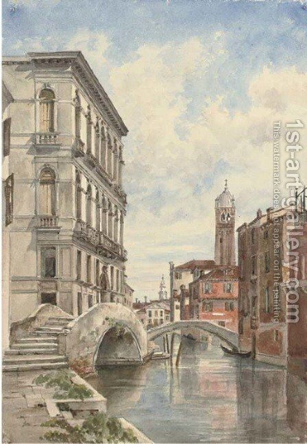 The Palazzo Diedo, Ponte Fosca, Venice by Harriet Cheney - Reproduction Oil Painting