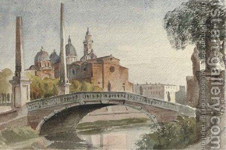 The Ponte Giustino, Padua by Harriet Cheney - Reproduction Oil Painting