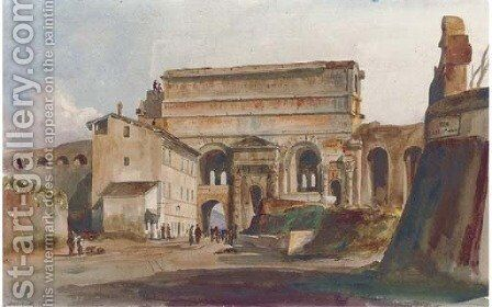 The Porta Maggiore, Rome by Harriet Cheney - Reproduction Oil Painting