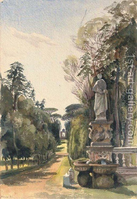 The Villa Borghese, Rome by Harriet Cheney - Reproduction Oil Painting