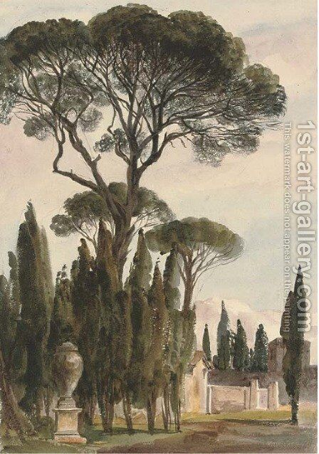 The Villa Borghese, Rome 4 by Harriet Cheney - Reproduction Oil Painting