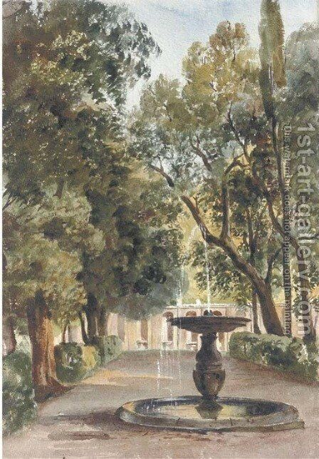 The Villa Conti, Frascati by Harriet Cheney - Reproduction Oil Painting