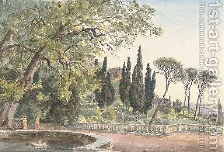 The Villa d'Este, Tivoli 2 by Harriet Cheney - Reproduction Oil Painting