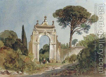 The Villa Muti, Frascati by Harriet Cheney - Reproduction Oil Painting