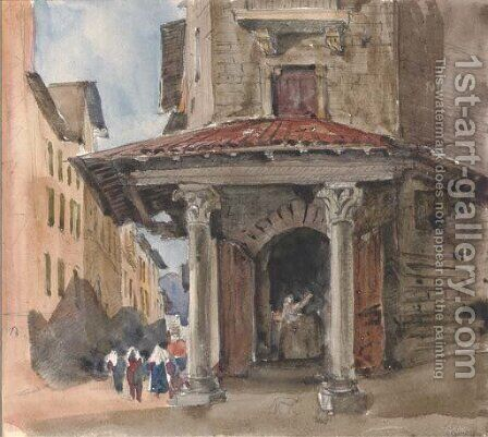 The Porta Castiglione, Bologna by Harriet Cheney - Reproduction Oil Painting