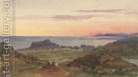View of Nice at sunset by Harriet Cheney - Reproduction Oil Painting