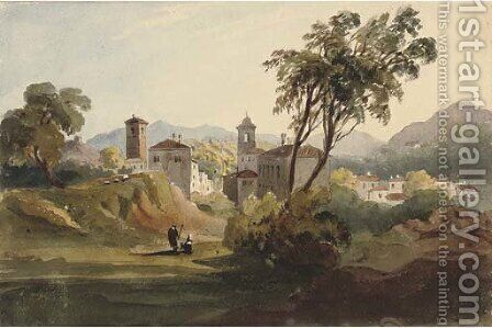 View of Paullo, near Milan by Harriet Cheney - Reproduction Oil Painting