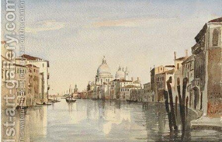 View of Santa Maria della Salutefrom the Grand Canal by Harriet Cheney - Reproduction Oil Painting