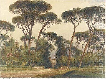 Villa Borghese, Rome by Harriet Cheney - Reproduction Oil Painting