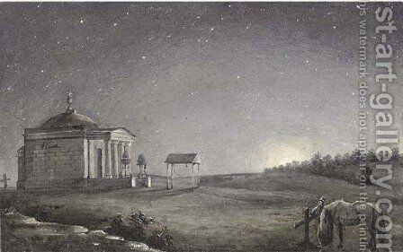 The General Tuchkov memorial chapel at Borodino by Russian School - Reproduction Oil Painting