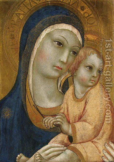 The Madonna and Child by Sano Di Pietro - Reproduction Oil Painting