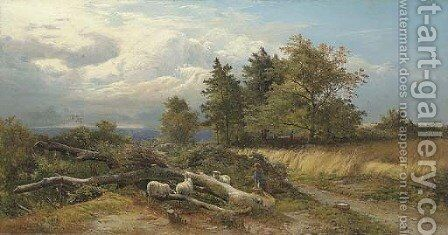 Autumn, Haslemere, Surrey by Sidney Richard Percy - Reproduction Oil Painting