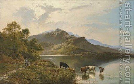 Down to the Lake by Sidney Richard Percy - Reproduction Oil Painting