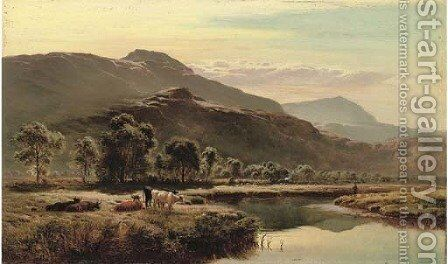 Near Ambleside, Westmorland by Sidney Richard Percy - Reproduction Oil Painting