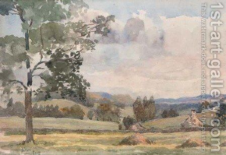 A quiet rural village by Sir Alfred East - Reproduction Oil Painting