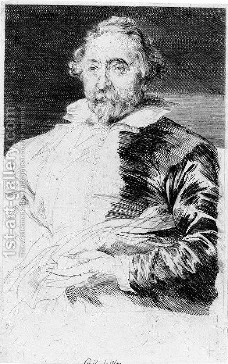 Guillaume de Vos by Sir Anthony Van Dyck - Reproduction Oil Painting