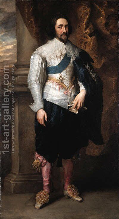 Portrait of Charles, Marquis de Vieuville by Sir Anthony Van Dyck - Reproduction Oil Painting