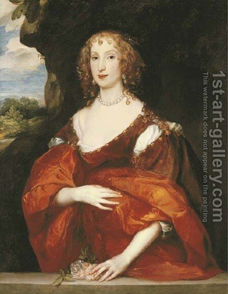 Portrait of Mary Hill, Lady Killigrew by Sir Anthony Van Dyck - Reproduction Oil Painting