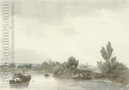 Walton-on-Thames, Oxfordshire by Sir Augustus Wall Callcott - Reproduction Oil Painting