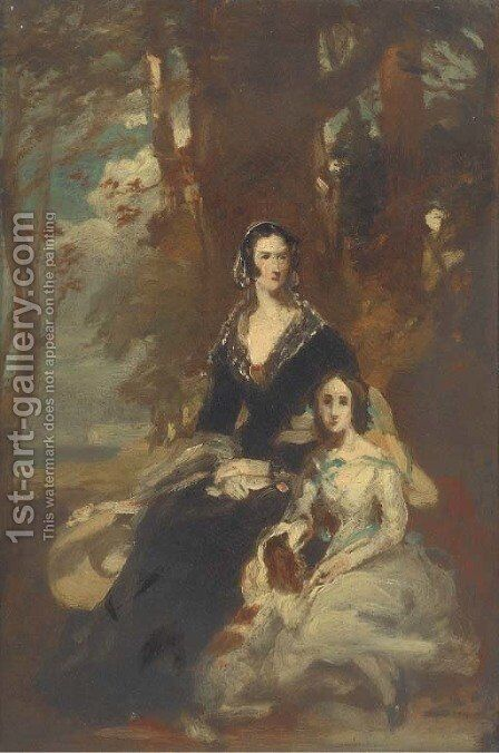 Portrait of two ladies by Daniel Macnee - Reproduction Oil Painting