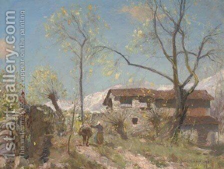 Alpine farm by David Murray - Reproduction Oil Painting