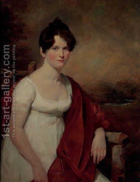 Portrait of Mrs. Catherine Deas (nee Low) by Sir David Wilkie - Reproduction Oil Painting