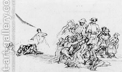 A composition sketch by Sir David Wilkie - Reproduction Oil Painting