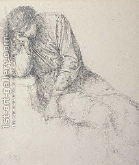 Study for Chaucer's Dream of Good Women by Sir Edward Coley Burne-Jones - Reproduction Oil Painting