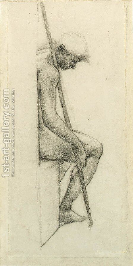 Study from the nude for a sleeping guard in 'The Council Chamber' in the Briar Rose series by Sir Edward Coley Burne-Jones - Reproduction Oil Painting