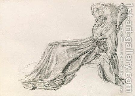 Study of Fanny Cornforth, reclining by Sir Edward Coley Burne-Jones - Reproduction Oil Painting