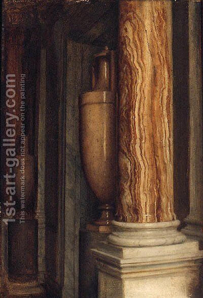 A Marble Interior by Sir Edward John Poynter - Reproduction Oil Painting