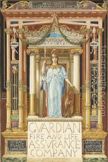 Design for the Guardian Fire and Life Assurance Company by Sir Edward John Poynter - Reproduction Oil Painting