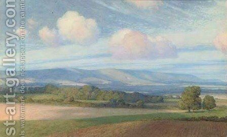 The South Downs by Sir Frank Dicksee - Reproduction Oil Painting